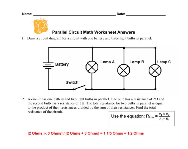 Circuit Diagram Worksheet Answers