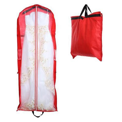 wedding bridal long dress gown garment storage handheld