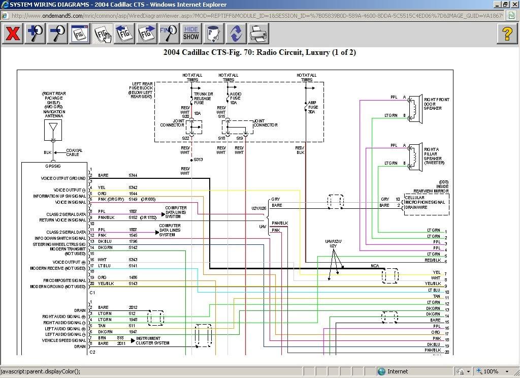 28 2005 Cadillac Cts Wiring Diagram