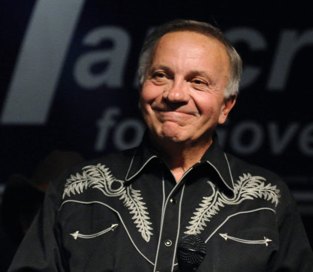 Tom Tancredo, American Constitution party candidate for Colorado governor, delivers his concession speech during an election night event Tuesday, Nov. 2, 2010, in Aurora, Colo. (AP Photo/Jack Dempsey)