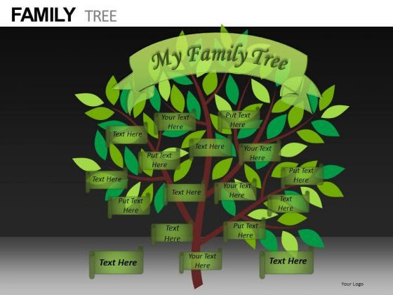 Editable Family Tree Template | Editable Ppt Slides Family Tree ...
