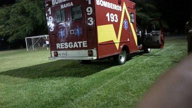 Ambulância resgate do 8º GBM se desloco até a área esportiva da AABB para socorrer o ex-poliicial