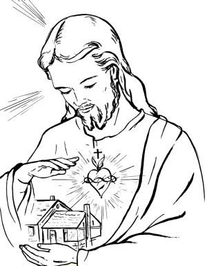 Sagrado Corazon De Jesus Para Colorear E Imprimir
