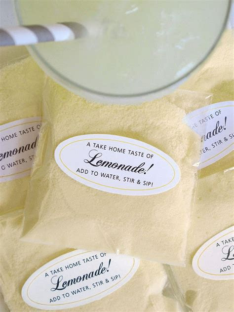 Simple Gift: Individual Lemonade Packets   Wedding Inspiration