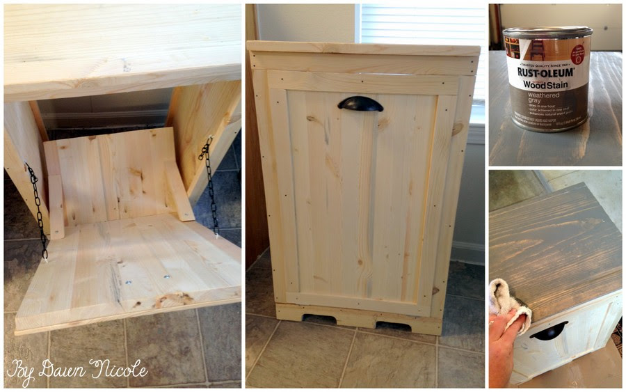 How To Make Wood Tilt Out Diy Trash Can Cabinet Beesdiycom