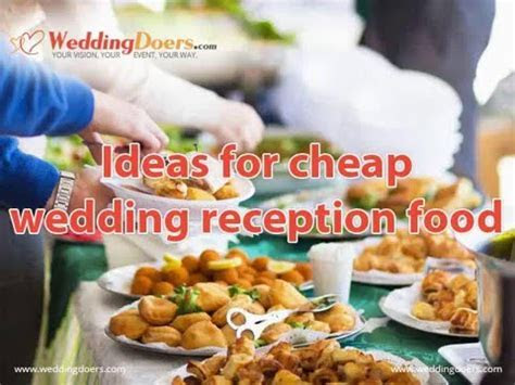 Ideas for cheap wedding reception food   YouTube