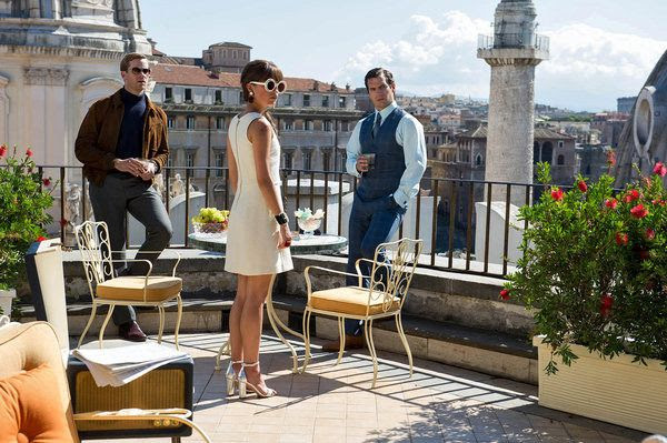 Illya Kuryakin (Armie Hammer), Gabby Teller (Alicia Vikander) and Napoleon Solo (Henry Cavill) in a production still from THE MAN FROM U.N.C.L.E.