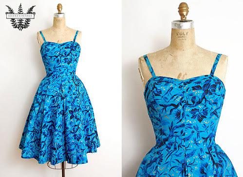Vintage 1950s Dress from Adorevintage.com