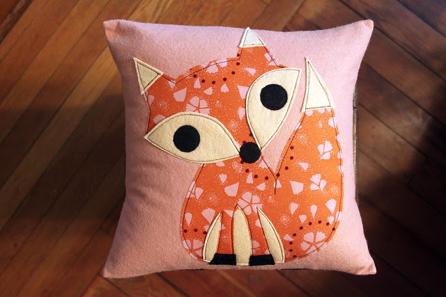 Pink Fox ❤ Pillow