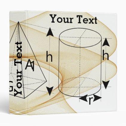 Math, Geometry Style Binder