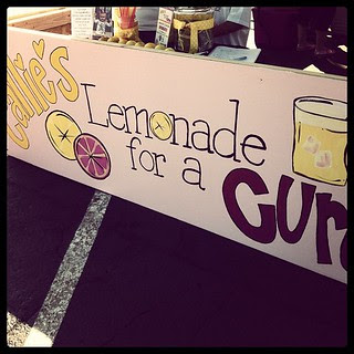 Don't forget to support Callie's Lemonade for the Cure! Till 12 at the Olive Garden parking lot.