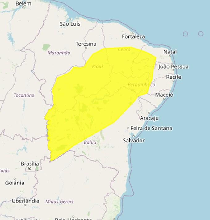 Inmet emite alerta de baixa umidade para 105 municípios da Paraíba