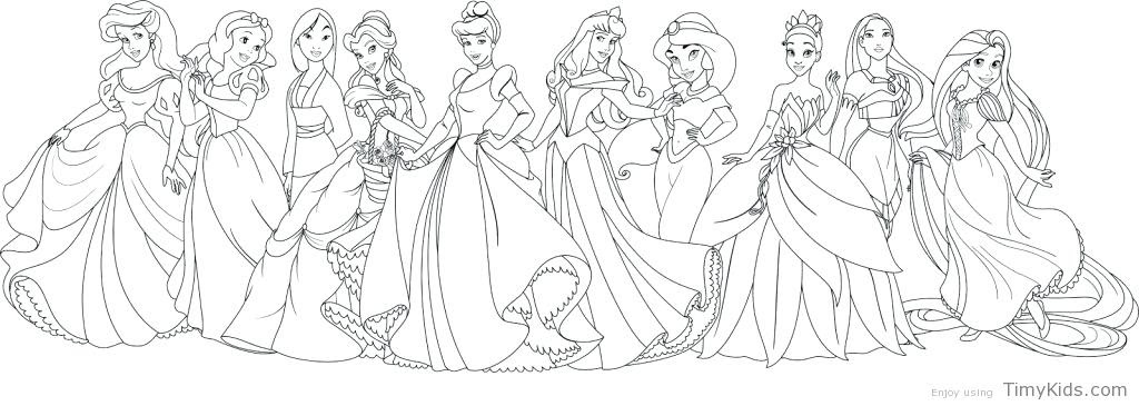 46 Top Disney Princesses Coloring Pages Pdf  Images