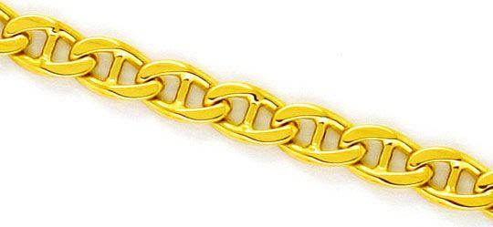 Foto 2, Stegpanzer Goldkette massiv Gelbgold Kette 18K/750 Neu!, K2260