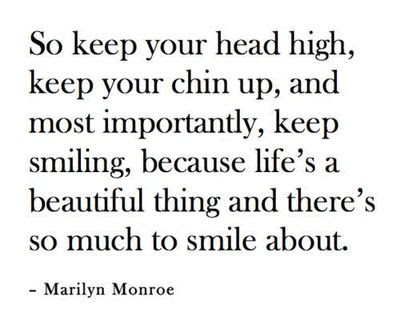 Marilyn Monroe So Keep Your Head High Keep Yo Inspiring