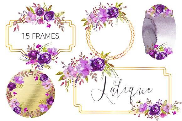 Lalique Embellished Floral Frames 2658818 Weddbook