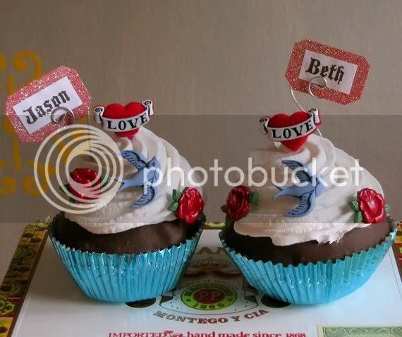 fake cupcakes tattoo for wedding