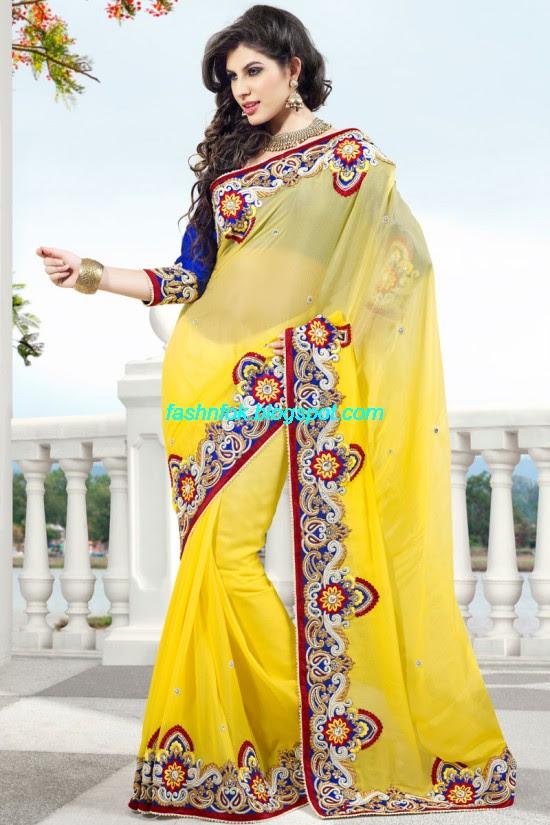 Indian-Brides-Bridal-Wedding-Fancy-Embroidered-Saree-Design-New-Fashion-Hot-Sari-Dress-5