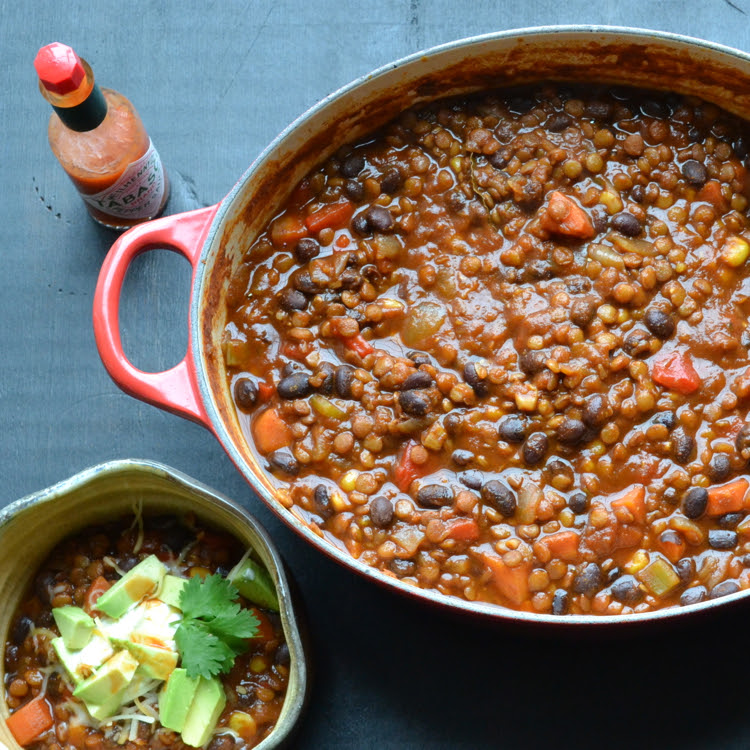 Black Bean and Lentil Chili | Taste Love & Nourish