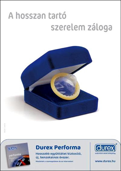 Durex commercial creative condom ads with wedding ring