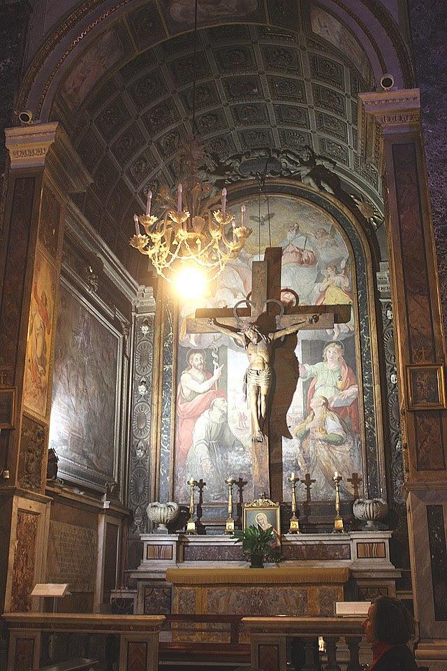 Roma, Santa Maria in Via, Seitenaltar.JPG