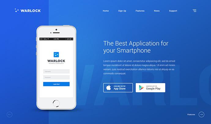 Warlock Plantilla PSD App