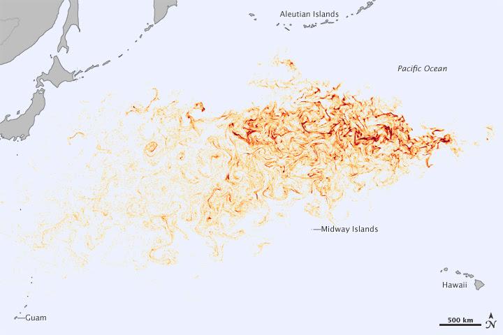 Tracking Debris from the Tohoku Tsunami