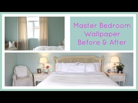 the daily connoisseur master bedroom wallpaper before after