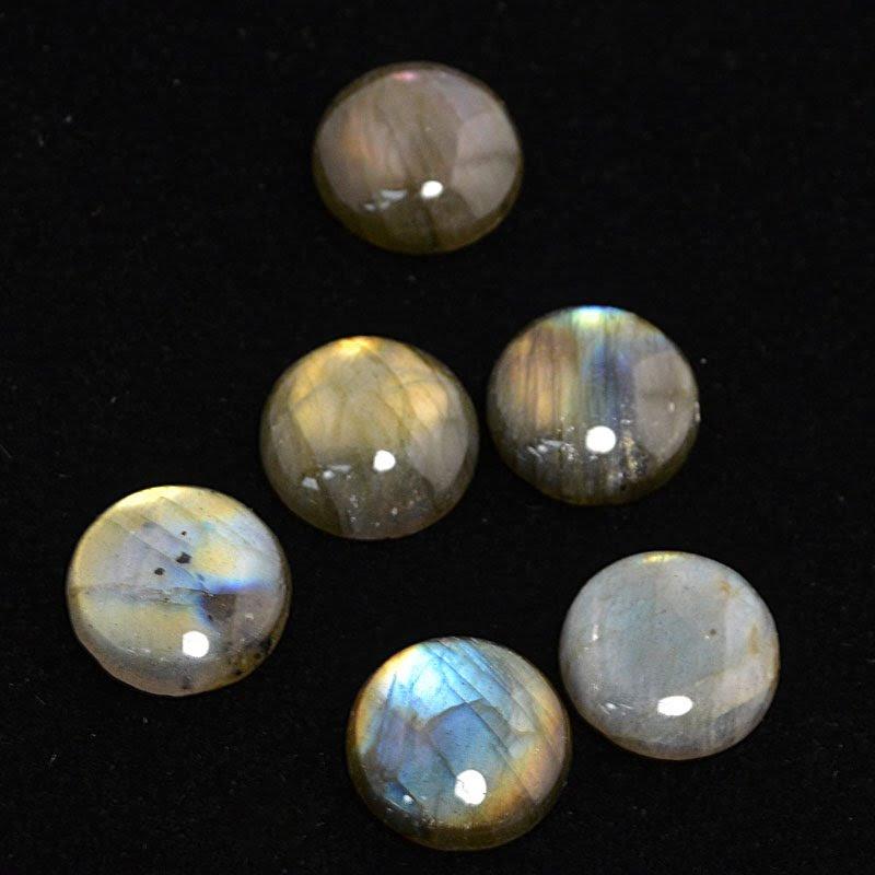 s44231 Stone Cabochon - 16 mm Round Cabochon - Labradorite (1)