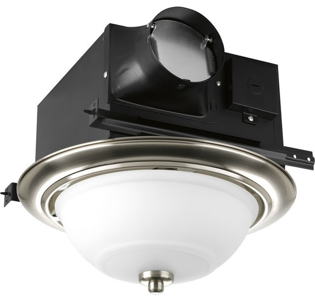 Progress Lighting Decorative Bathroom Exhaust Fan XBWRTS90800VP  Contemporary  Bathroom