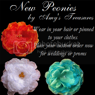 organza peonies from amystreasures on etsy