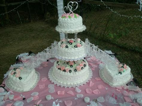 wedding cake with stairs and fountains   Stair And