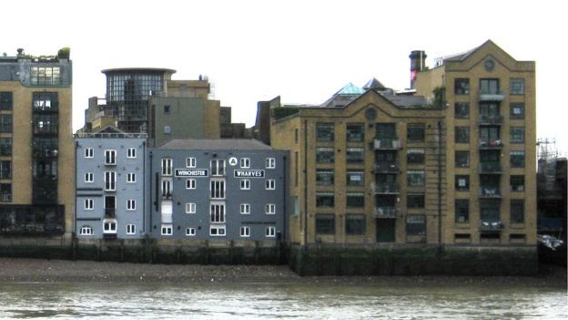 Clink Street from the other side of the river