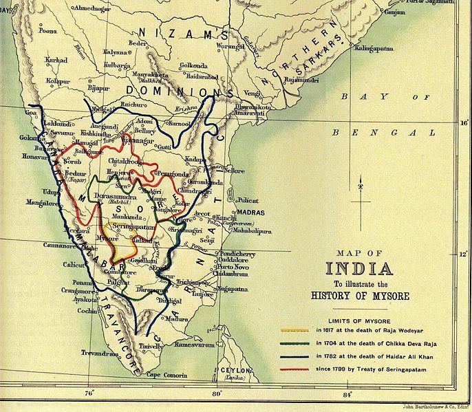 Image result for tipu army at travancore border