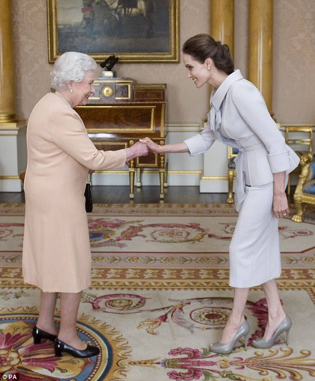 Honours: In October, Angelina was made an honorary Dame by the Queen in recognition of her work against sexual violence
