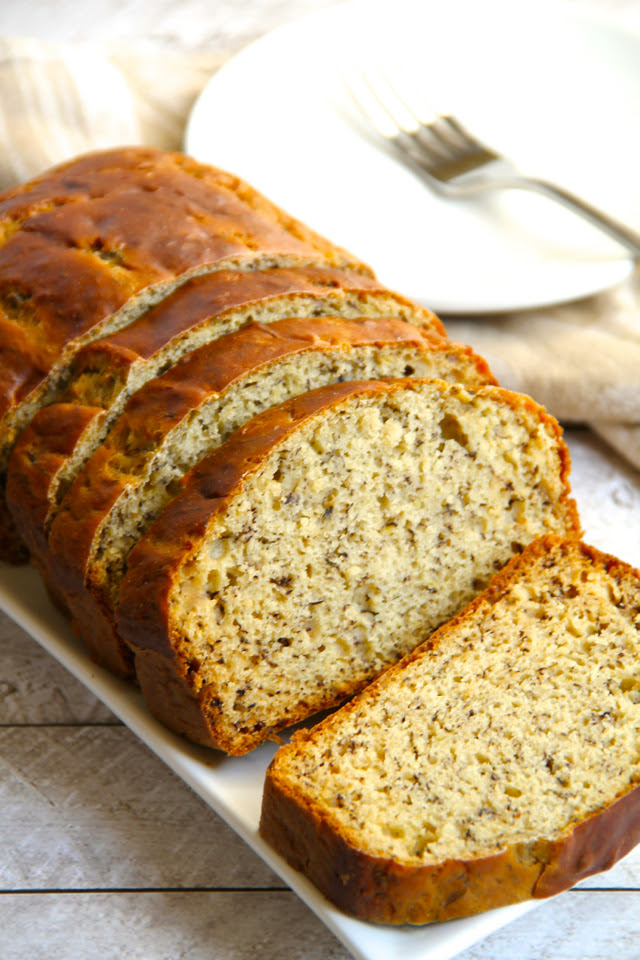 Greek Yogurt Banana Bread | running with spoons