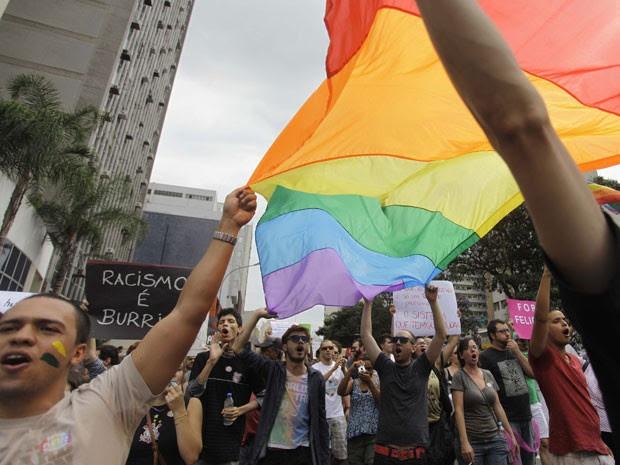 Manifestantes se concentraram na Avenida Paulista (Foto: Nelson Antoine/Foto Arena/ Estadão Conteúdo)