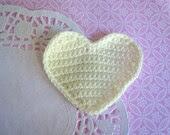 Crocheted Cream Hearts