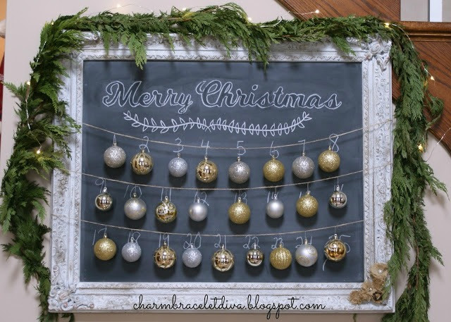 Chalkboard Christmas Advent Calender - featured at KnickofTime.net