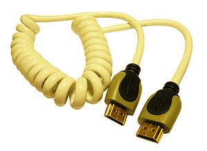 Español: Cable HDMI 1.4, rizado