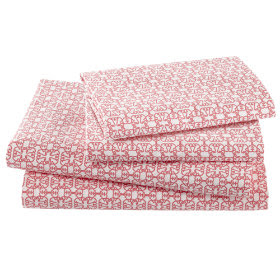 Kids' Bedding: Girls' Pink Flower Cotton Bedding Sheets in Sheet ...