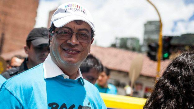El exalcalde de Bogotá Gustavo Petro