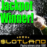 Online slot machine progressive jackpot big winner at Slotland