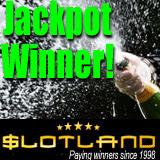 Online slot machine progressive jackpot big winner at Slotland