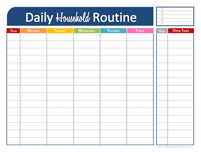 Free Daily Household Routine Printable | Fab N