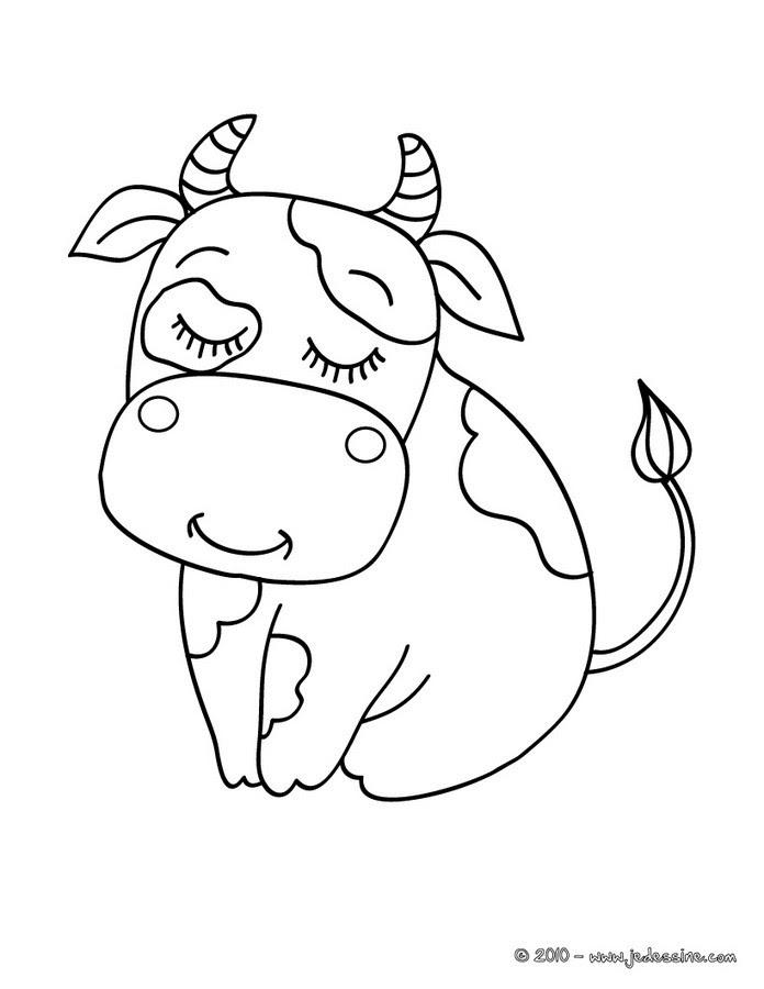 Coloriages De Vaches Coloriages Coloriage à Imprimer Gratuit