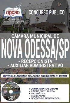 Apostila Concurso Câmara de Nova Odessa 2018 | AUXILIAR ADMINISTRATIVO E RECEPCIONISTA