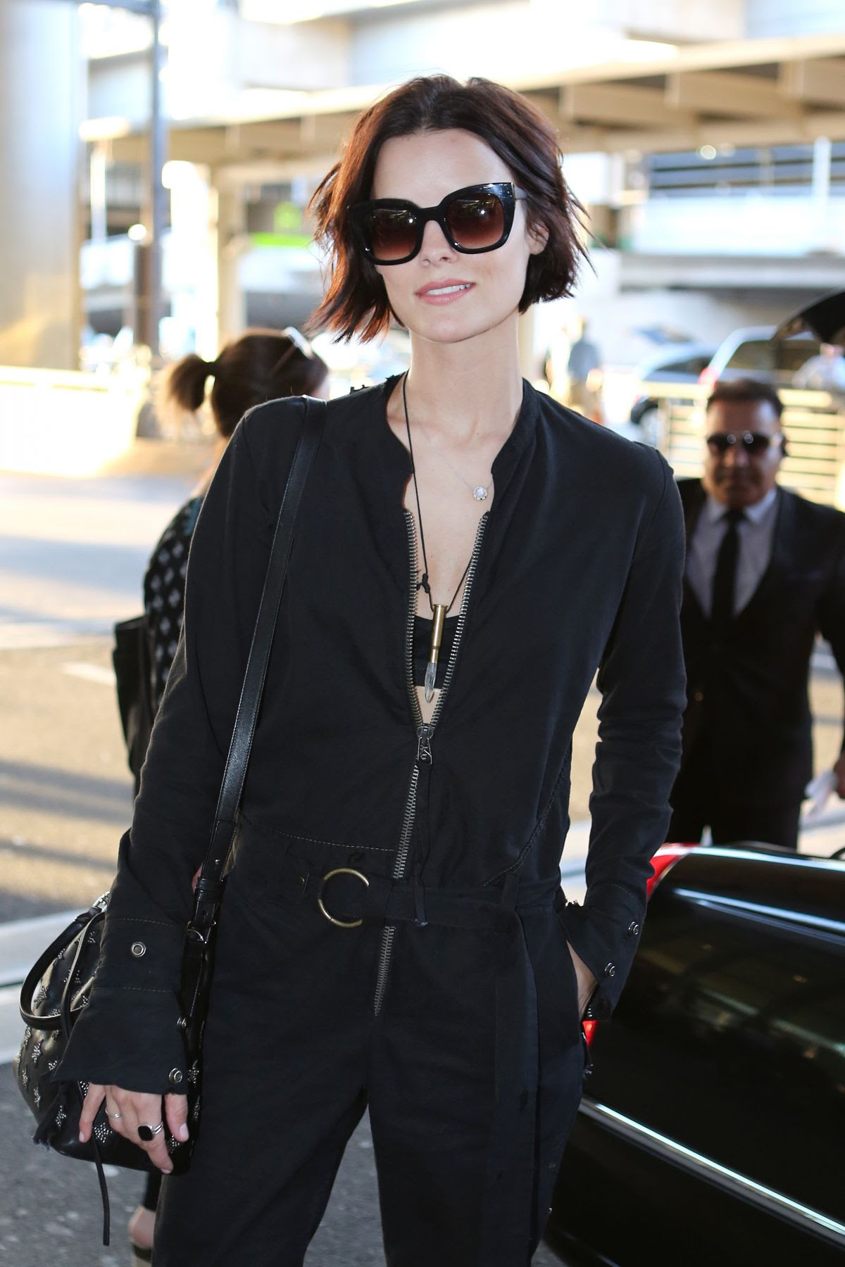 JAIMIE ALEXANDER at Pearson International Airport in Toronto 06/03/2015