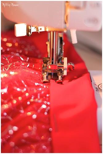 MWM Red 2 tier Halloween Skirt Oct 2012 11