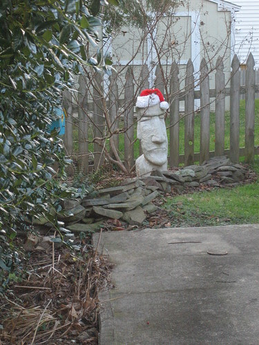 Christmas 'Easter Island' in Falls Church